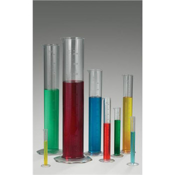 Bel-Art Products F28692-0000 Scienceware Clear Graduated Cylinders, TPX Cylinder, TPX, 50ml  (Each of 1)