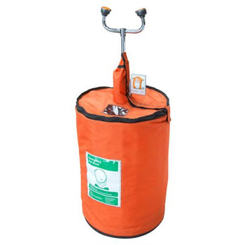 G1562HTR Guardian 15 Gallon Portable Eyewash/Drench Hose Unit with Heated Orange Insulation Jacket (Each of 1)