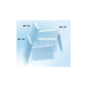 Greiner Bio-One 651101 96 Well Clear Microplates 96W Plate, PS, Non-Sterile, Conical (V) Bottom, Clear, 10 Pack  (Case of 100)