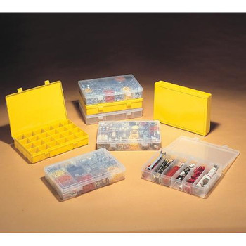 Durham Manufacturing LP6-CLEAR Plastic Compartment Boxes Box Large 6-Compartment  (Each of 1)