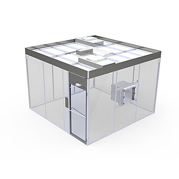BHC-666A-7 Sapphire Cleanrooms Acrylic Hardwall Modular Cleanrooms Hardwall Cleanroom, Acrylic, ISO 7, 6' x 6' x 8'H, 120V/220V Each of  1