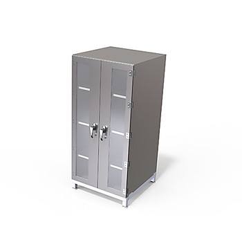 SCP-B-320 Sapphire Cleanrooms Cleanroom Storage Cabinets Storage Cabinet, with Filter Blower, Polypropylene, 3 Chamber, 25\ Each of  1