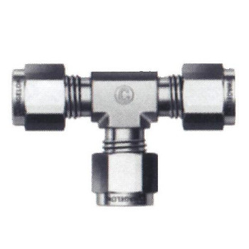 Swagelok SS-400-3 Tube Fittings, Union Tees Union Tee, Stainless Steel, 1/4  (Each of 1)