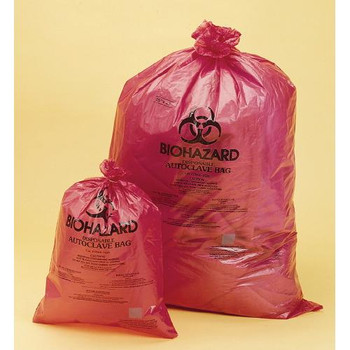 F13164-2535 Bel-Art Products Scienceware Bag, Wr, Biohazard Disposal, 25 X 35, PP, Red (Case of 200)