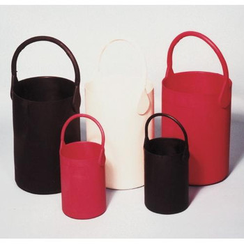 Eagle Thermoplastics B-101 Bottle Carrier - Bucket Type, Rubber Bottle Carrier, White, Large  (Each of 1)
