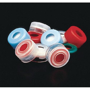 J.G. Finneran 5240-11B 11mm Snap Top Caps 11mm Blue Snap Cap, PTFE / Red Rubber  (Package of 100)