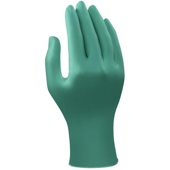 Ansell 588083 92-605 TouchNTuff Extended Cuff Disposable Nitrile Gloves Green Nitrile Glove, Ambidextrous, Powder Free, Textured Fingers, Beaded Cuff, Extra Large  (Box of 100)