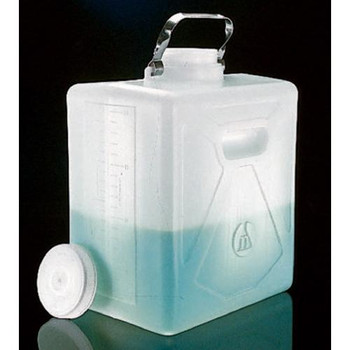 Thermo Scientific Nalgene 2211-0050 High-Density Polyethylene Rectangular Carboys Carboy Rectangular HDPE w / SS Handle 20 L (5.28 gallons)  (Each of 1)