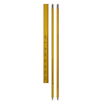 ACC10033 Thermco Sama Precision Laboratory Thermometers - Mercury - 76mm/Partial Immersion Thermometer LG -1 to 51A??C x .1 76 ME Each of  1