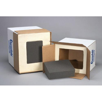 E38UPS Thermosafe Polyurethane (PUR) Foam Insulated Shippers Insulated Shipper 11 x 8.5 x 7 Case of  4