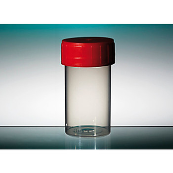 Corning Gosselin TP35C-002 Straight Containers with Red Polyethylene Caps Straight Container, 60mL, PP, Natural, 70 x 33mm, Red Screw Cap, Sterile  (Case of 700)