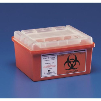 Covidien KEN 8970 Sharps-A-Gator General Purpose Sharps Containers Multi-Purpose Container with Rotor Opening Lid, 2 Gallon  (Each of 1)