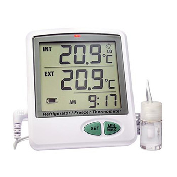 Thermco ACCRT8002 Vaccine Temperature Data Logger with Software-Less Reporting Ambient & Refrigerator or Freezer Vaccine Data Logger w/ Vial & Probe, Mini USB Cable, 110V USB Power Adapter, Micro SD Card, USB Card Adapter  (Each of 1)