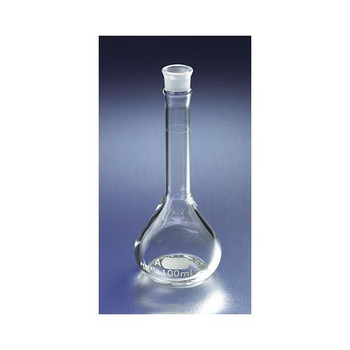 Corning 5635-100 PYREX EZ Access Wide Mouth Volumetric Flasks PYREX EZ Access Wide Mouth Volumetric Flask, Class A, Heavy Duty, with Glass No. 16 Standard Taper Stopper, 100mL  (Case of 6)