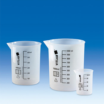 V111004 BrandTech Griffin Beakers, ETFE, 1000 mL, 147 mm Height, 120 mm O.D., Black Graduations (1 Each)