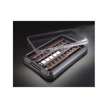 Simport M918-2 StainTray Slide Staining System StainTray, Base with Black Lid, 10 Slides  (Case of 1)