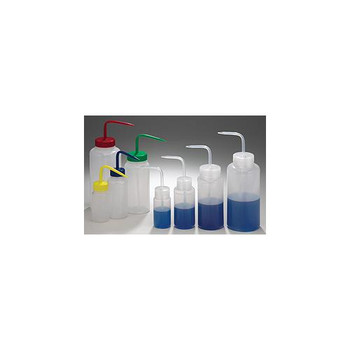 Bel-Art Products F11620-0500 Wide Mouth Wash Bottles Wash Bottle, Wide Mouth, Natural Cap, 500mL (16oz)  (Package of 6)