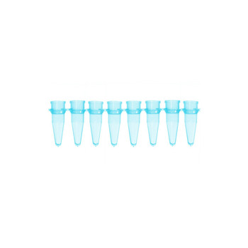1135996 Bio-Plas 0.2 mL Thin Wall 8-Strip PCR Microtube, Blue