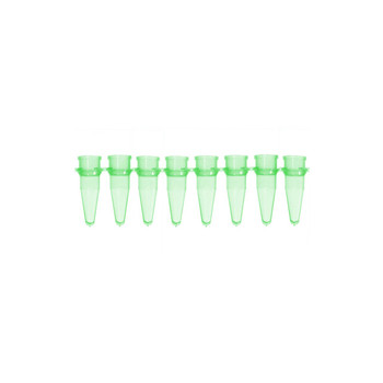 1136026 Bio-Plas 0.2 mL Thin Wall 8-Strip PCR Microtube, Green