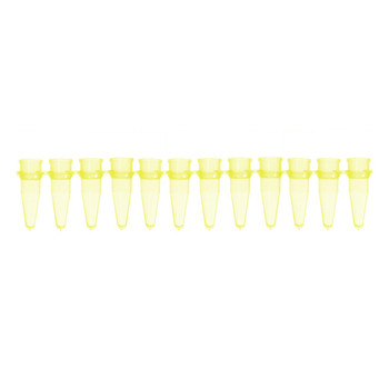 1139618 Bio-Plas 0.2 mL Thin Wall 12-Strip PCR Microtube, Yellow