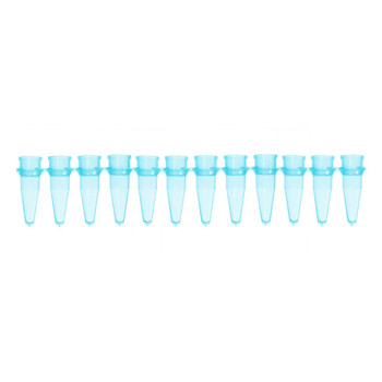 1139649 Bio-Plas 0.2 mL Thin Wall 12-Strip PCR Microtube, Blue
