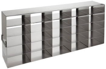 """RF222A Argos Technologies Upright Freezer Rack for 2"""" Cryoboxes, Holds 4 Boxes, Stainless Steel, 2 x 2 (1 Rack)"""