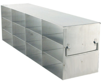 """RF432A Argos Technologies Upright Freezer Rack for 2"""" Cryoboxes, Holds 12 Boxes, Stainless Steel, 4 x 3 (1 Rack)"""