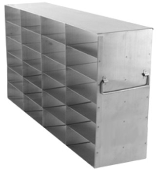 "RF462A Argos Technologies Upright Freezer Rack for 2"" Cryoboxes, Holds 24 Boxes, Stainless Steel, 4 x 6 (1 Rack)"
