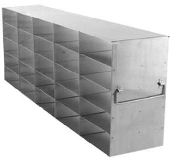 """RF562A Argos Technologies Upright Freezer Rack for 2"""" Cryoboxes, Holds 30 Boxes, Stainless Steel, 5 x 6 (1 Rack)"""