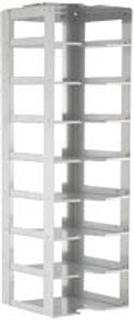 """RC082A Argos Technologies Chest Freezer Vertical Rack for 2"""" Cryoboxes, Holds 8 Boxes, Stainless Steel (1 Rack)"""