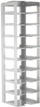 """RC092A Argos Technologies Chest Freezer Vertical Rack for 2"""" Cryoboxes, Holds 9 Boxes, Stainless Steel (1 Rack)"""