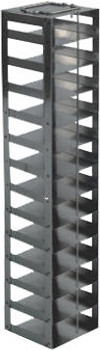 """RM132A Argos Technologies Mini Vertical Rack for 2"""" Cryoboxes, Holds 13 Boxes, Stainless Steel (1 Rack)"""