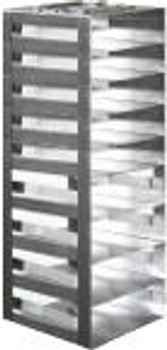 """RM092SA Argos Technologies Mini Spring Clip Rack for 2"""" Cryoboxes, Holds 9 Boxes, Stainless Steel (1 Rack)"""