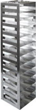 """RM122SA Argos Technologies Mini Spring Clip Rack for 2"""" Cryoboxes, Holds 12 Boxes, Stainless Steel (1 Rack)"""