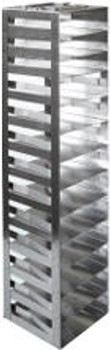 """RM132SA Argos Technologies Mini Spring Clip Rack for 2"""" Cryoboxes, Holds 13 Boxes, Stainless Steel (1 Rack)"""