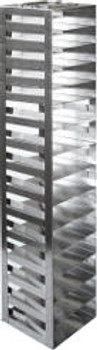 """RM152SA Argos Technologies Mini Spring Clip Rack for 2"""" Cryoboxes, Holds 15 Boxes, Stainless Steel (1 Rack)"""