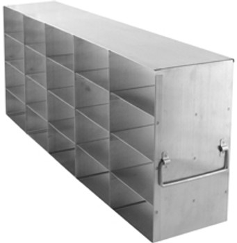 "RF543A Argos Technologies Upright Freezer Rack for 3"" Cryoboxes, Holds 20 Boxes, Stainless Steel, 5 x 4 (1 Rack)"