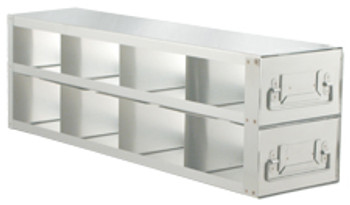 """RD423A Argos Technologies Upright Freezer Drawer Rack for 3"""" Cryoboxes, Holds 8 Boxes, Stainless Steel, 4 x 2 (1 Rack)"""