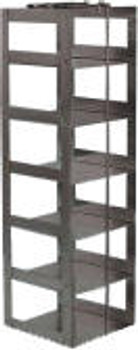 "RC073A Argos Technologies Chest Freezer Vertical Rack for 3"" Cryoboxes, Holds 7 Boxes, Stainless Steel (1 Rack)"