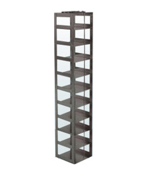 """RM103A Argos Technologies Mini Vertical Rack for 3"""" Cryoboxes, Holds 10 Boxes, Stainless Steel (1 Rack)"""