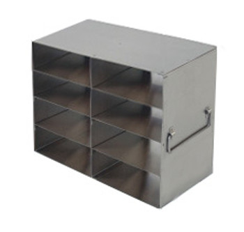 RFH24A Argos Technologies Upright Freezer Rack for Plastic Cryoboxes, Holds 8 Boxes, Stainless Steel, 2 x 4 (1 Rack)