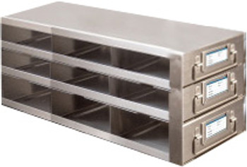 RDMP33A Argos Technologies Upright Freezer Drawer Rack for 96 - Well Plates,384 - Well Plates, Holds 27 Plates w/ Lid, Stainless Steel (1 Rack)