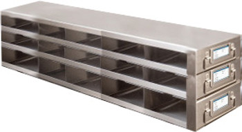 RDMP53A Argos Technologies Upright Freezer Drawer Rack for 96 - Well Plates,384 - Well Plates, Holds 45 Plates w/ Lid, Stainless Steel (1 Rack)