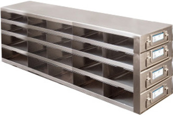 RDMP54A Argos Technologies Upright Freezer Drawer Rack for 96 - Well Plates,384 - Well Plates, Holds 60 Plates w/ Lid, Stainless Steel (1 Rack)