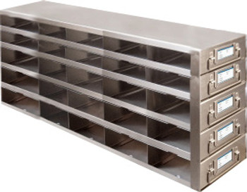 RDMP55A Argos Technologies Upright Freezer Drawer Rack for 96 - Well Plates,384 - Well Plates, Holds 75 Plates w/ Lid, Stainless Steel (1 Rack)
