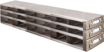 RDMP63A Argos Technologies Upright Freezer Drawer Rack for 96 - Well Plates,384 - Well Plates, Holds 54 Plates w/ Lid, Stainless Steel (1 Rack)