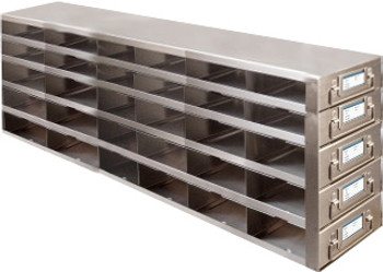 RDMP65A Argos Technologies Upright Freezer Drawer Rack for 96 - Well Plates,384 - Well Plates, Holds 90 Plates w/ Lid, Stainless Steel (1 Rack)