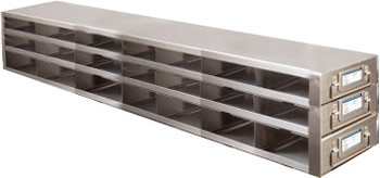 RDMP73A Argos Technologies Upright Freezer Drawer Rack for 96 - Well Plates,384 - Well Plates, Holds 63 Plates w/ Lid, Stainless Steel (1 Rack)