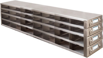 RDMP74A Argos Technologies Upright Freezer Drawer Rack for 96 - Well Plates,384 - Well Plates, Holds 84 Plates w/ Lid, Stainless Steel (1 Rack)