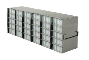 RDP65A Argos Technologies Upright Freezer Rack for 96 - Well Plates, Holds 30 Plates, Stainless Steel (1 Rack)